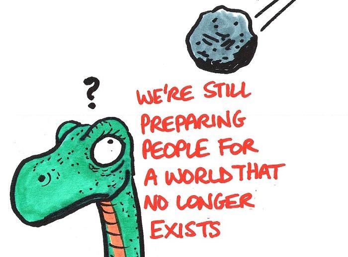 Dinosaur heading towards extinction