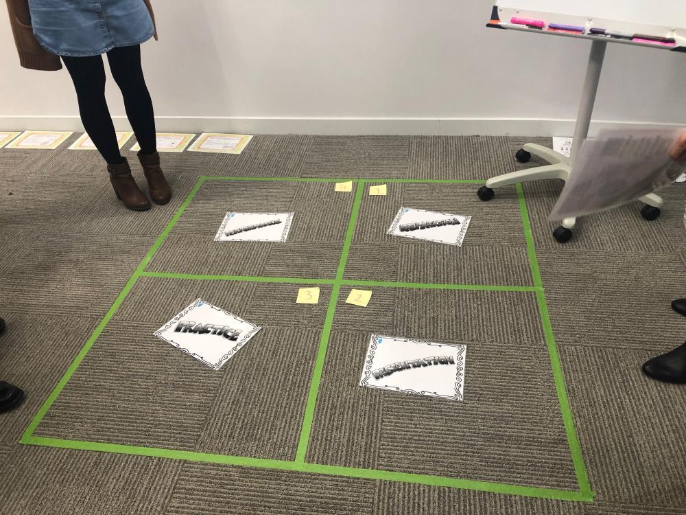 floor activity set up