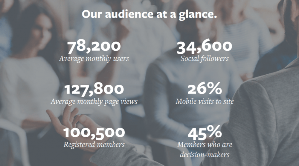 TrainingZone Audience at a glance