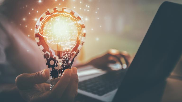 New ideas with innovation and creativity stock photo