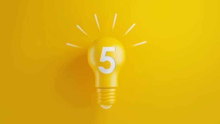 Five light bulb