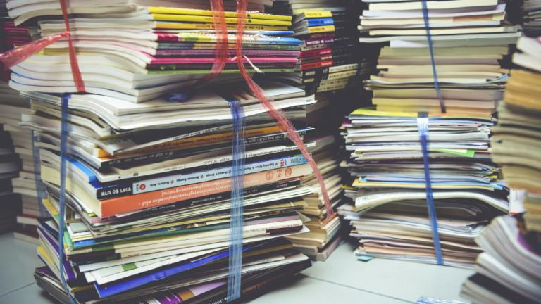 A big pile of books