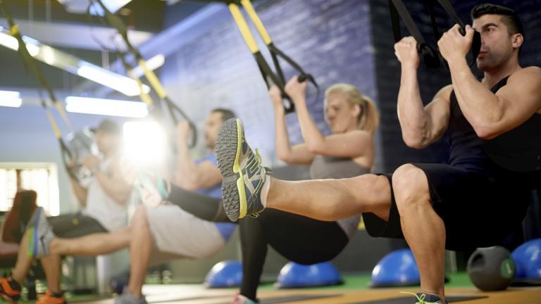 Tough gym session