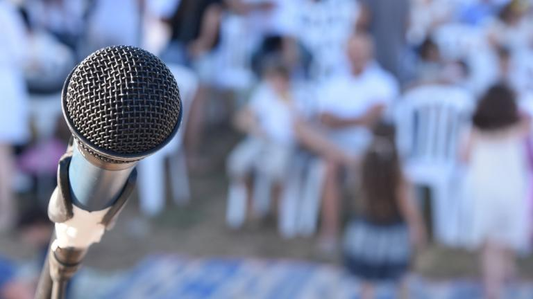 Microphone and public speaking