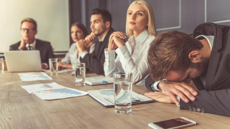 Bad meeting at work