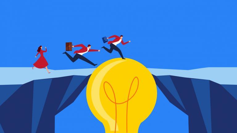 Creativity keeps businessmen moving forward