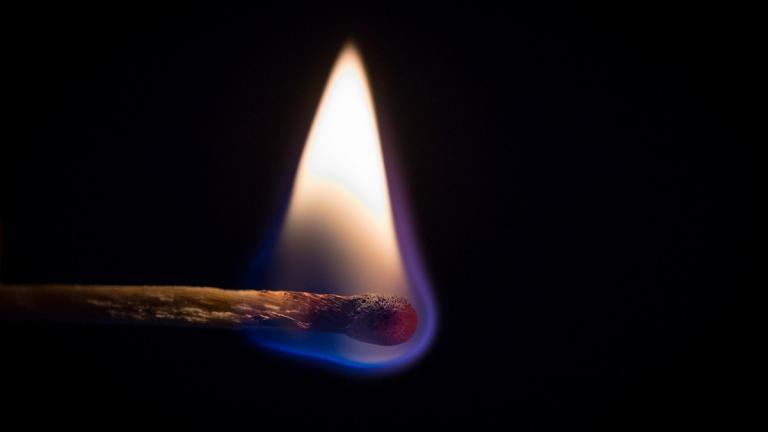 Match on fire