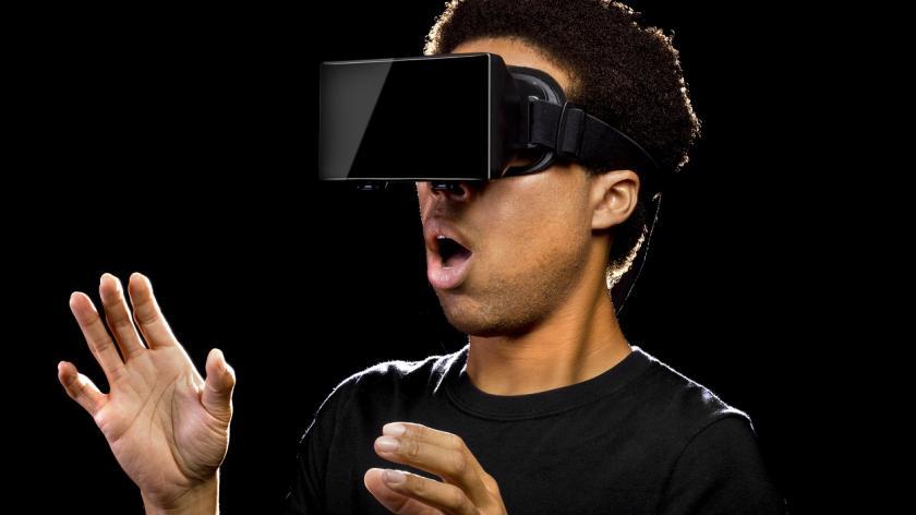 Man in VR headset