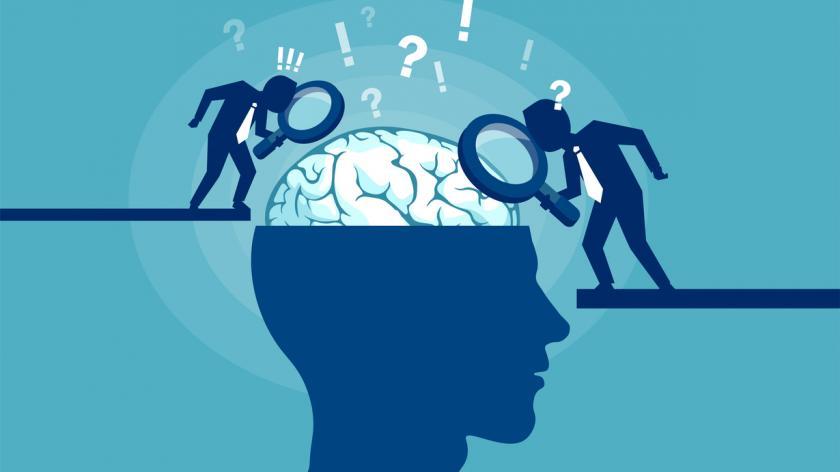 Concept of scientist exploring human brain