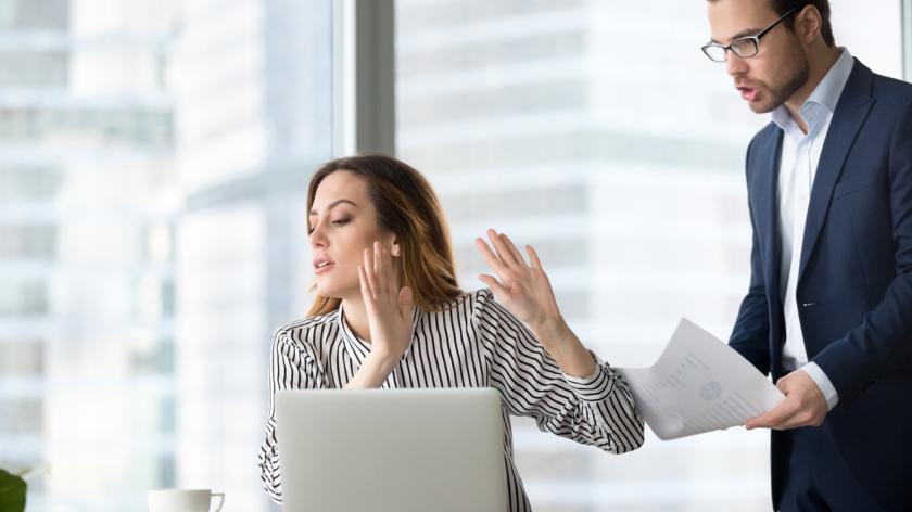 Employee ignoring work