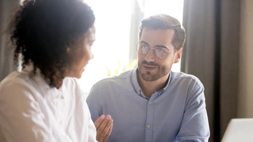 friendly mentor coaching a colleague