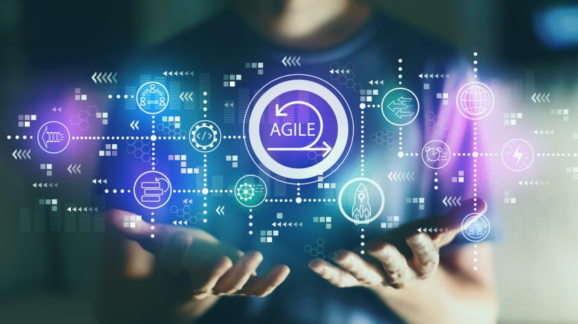 concept image with the word 'agile'