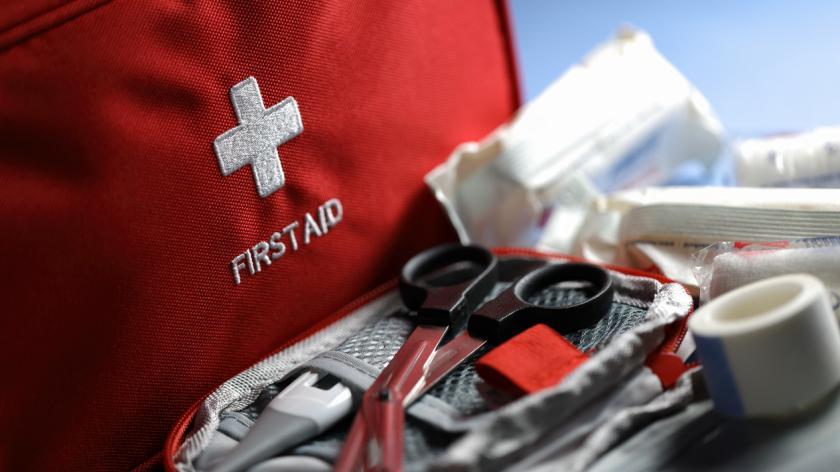 First aid kit closeup