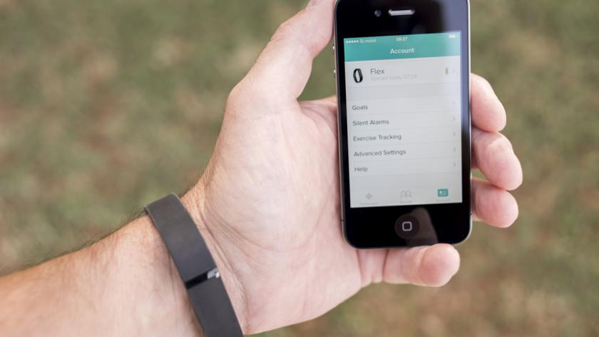 Using Fitbit Flex Activity Tracker Smartphone Application