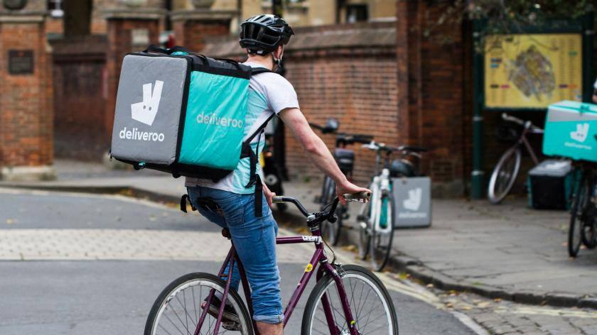 deliveroo rider at work