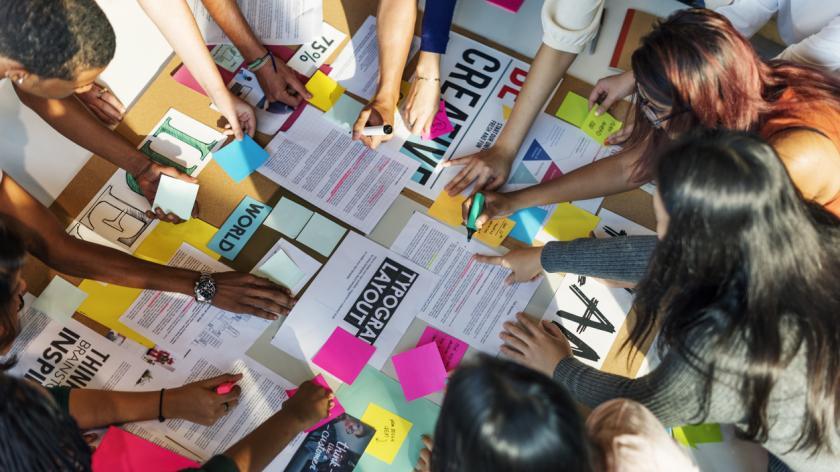 Plan Creative Class Library Student Teacher Ideas Concept