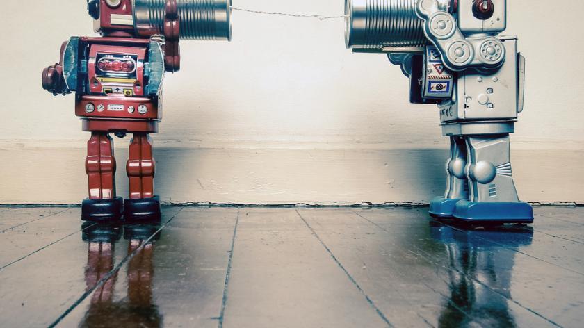 Robots listening through tin cans
