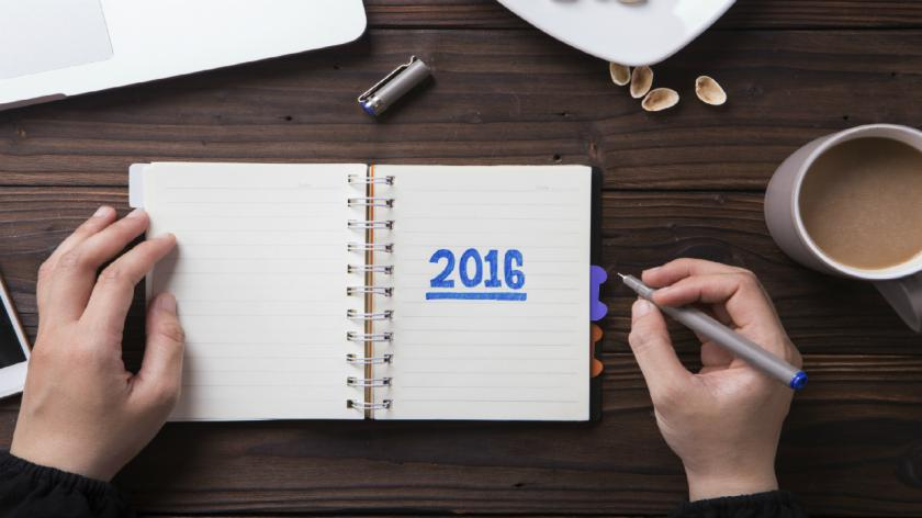 A diary with resolutions on it