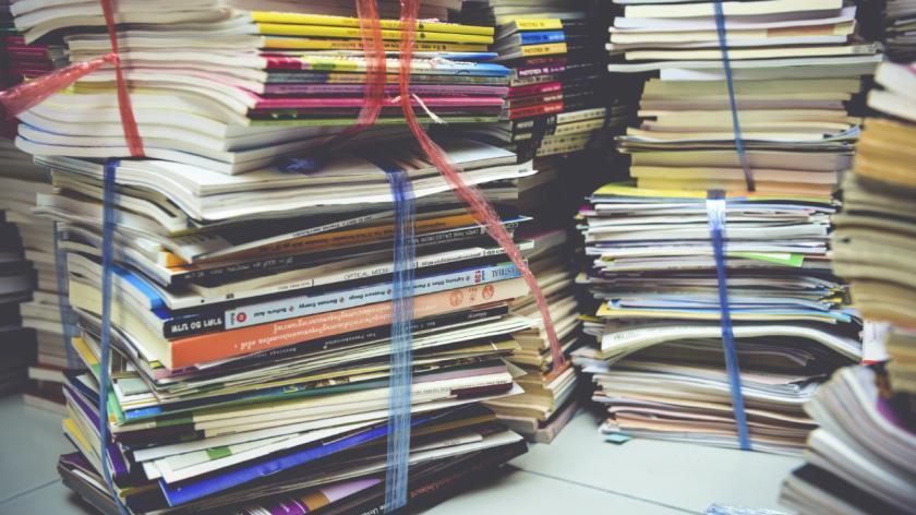 A big pile of books