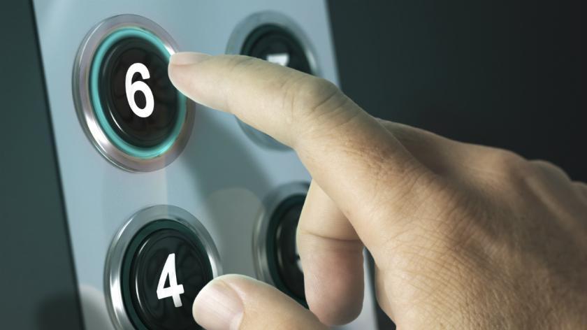 Floor six lift button