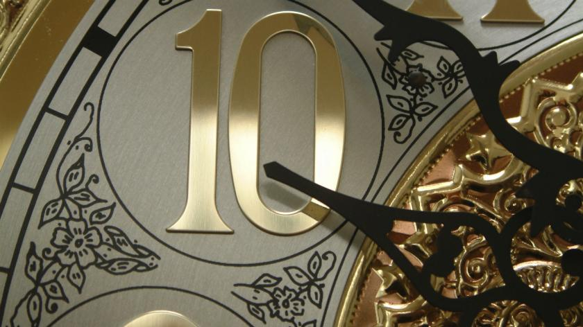 the number ten of a clock