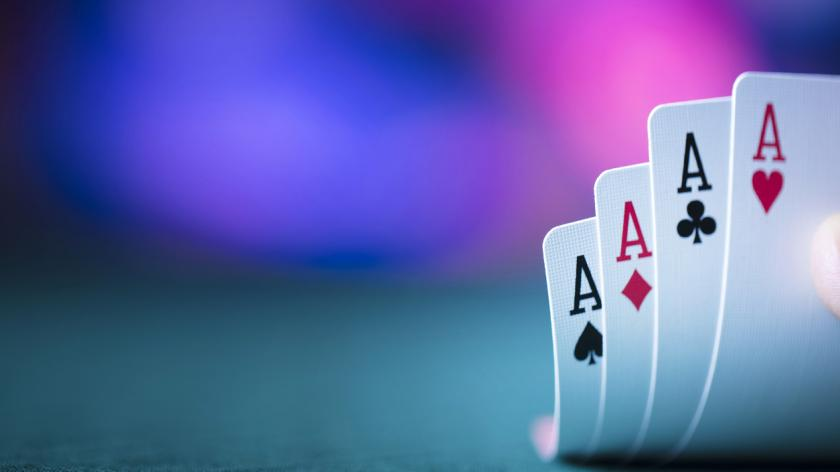 gambling playing cards aces