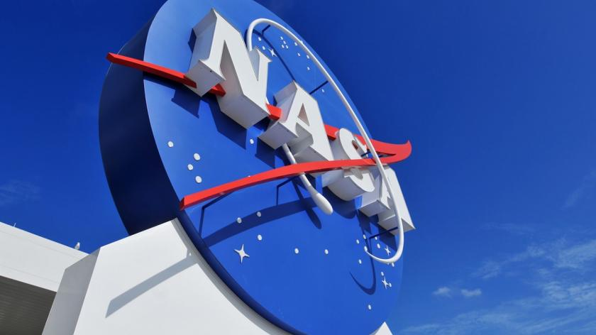 NASA logo on building
