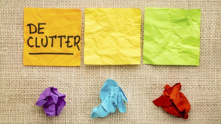 Declutter concept