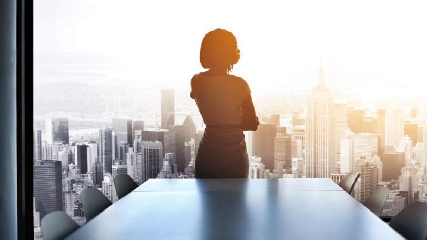 Leader in shadow in boardroom
