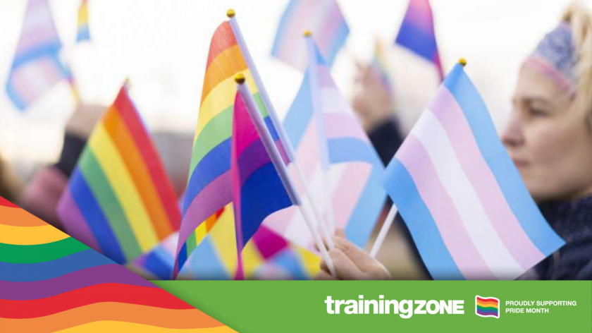 Pride rainbow flags
