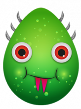 A green alien