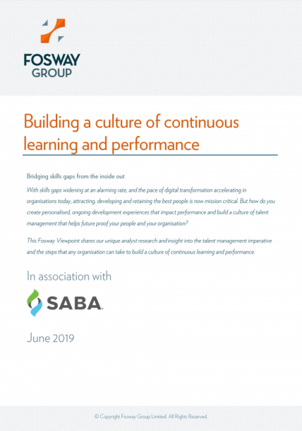 Saba Building a culture of continuous learning