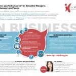 In Business quarterly coaching program for leaders and project managers